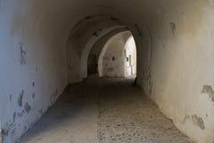 Stary średniowieczny kościelny wejście w Medias, Rumunia zdjęcie royalty free