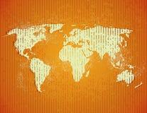 Stary Świat mapa Zdjęcie Royalty Free