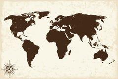 Stary świat mapa z grunge również zwrócić corel ilustracji wektora ilustracja wektor