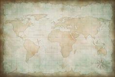 Stary świat mapy tło Zdjęcia Royalty Free