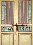 Stary żółty drewniany chiński styl Obraz Royalty Free