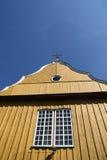 Stary żółty drewniany kościół fotografia royalty free