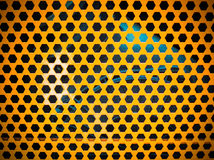 Stary żółty kruszcowy talerz Zdjęcia Royalty Free