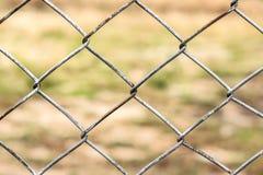Stary żelazny druciany ogrodzenie Obrazy Stock