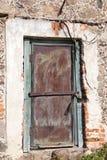 Stary żelazny drzwi budynek zdjęcia royalty free