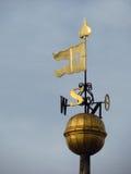 Stary żelazny złocisty pogodowy vane Zdjęcie Royalty Free