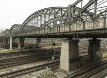 Stary żelazo most Hackerbrà ¼ cke w Monachium Zdjęcia Stock