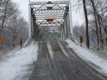 Stary żelazo most w zachodnim Indiana obraz stock