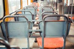 Stary abandoden tramwaj od zadka zdjęcie stock