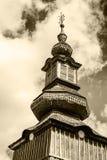 Stary aktywny kościół w Pylypets Ukraina Fotografia Stock