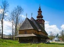Stary aktywny kościół w Pylypets Ukraina Obraz Stock