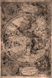 Stary Americas starzejący się mapy grunge tło Zdjęcie Royalty Free