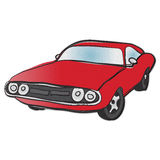 Stary Amerykański mięśnia samochód Obrazy Royalty Free