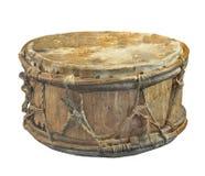 Stary Amerykańsko-indiański bęben odizolowywający Obraz Royalty Free