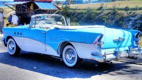 Stary Amerykański samochód na ulicie w Kuba Obrazy Stock