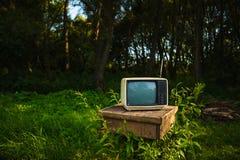 Stary analogowy TV Zdjęcia Stock