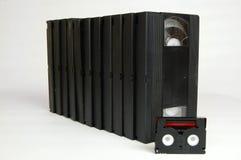 Stary analogowy wideo kasety taśm vhs dv zdjęcia royalty free