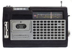 stary anteny radio Obrazy Royalty Free