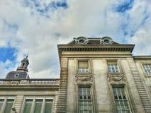 Stary antyczny budynek w starym okręgu Lion, Lion stary miasteczko, Francja Zdjęcie Stock