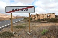 Stary antyczny kartel Antigua Fotografia Stock