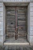 Stary antykwarski drewniany drzwiowy rocznika portalu drzwi Obrazy Stock