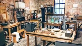 Stary żarówki manufactory Fotografia Stock