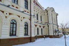 Stary architektoniczny buduje Irkutsk miasto fotografia stock