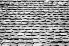 Stary architektoniczny szczegół Łupkowe Dachowe płytki/odnawiał Jaskrawego summ Zdjęcie Royalty Free