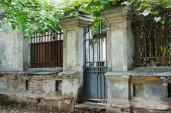 Stary architektura ceglany dom zdjęcia royalty free
