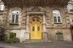 Stary autentyczny i atmosferyczny podwórze w Odessa, Ukraina zdjęcia stock