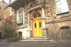 Stary autentyczny i atmosferyczny podwórze w Odessa, Ukraina obraz stock