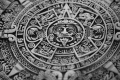 stary aztec kalendarz Zdjęcia Royalty Free