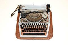 Stary będący ubranym rocznika maszyna do pisania na lekkim tle fotografia royalty free