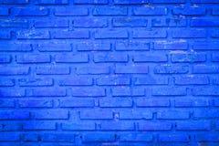 Stary błękitny ściana z cegieł Obraz Royalty Free
