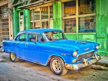Stary Błękitny Chevrolet Zdjęcie Stock