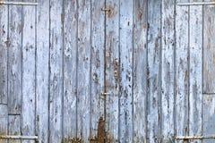 Stary błękitny drzwi Obrazy Royalty Free