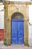 Stary błękitny drzwi Zdjęcia Royalty Free