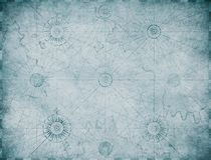 Stary błękitny nautyczny mapy tło ilustracja wektor