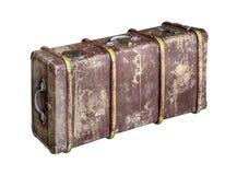Stary bagażnik odizolowywał (klatka piersiowa) Zdjęcia Royalty Free