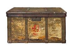 Stary bagażnik odizolowywał (klatka piersiowa) fotografia royalty free