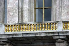 Stary balkon w Petersburg fotografia stock