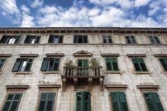 stary balkonowy budynek Fotografia Stock