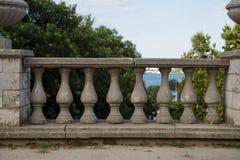 Stary balkonowy poręcz horyzontalny Obraz Stock