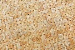 Stary bambusowy tkactwo wzór, wyplatająca rattan maty tekstura dla tła Obraz Royalty Free