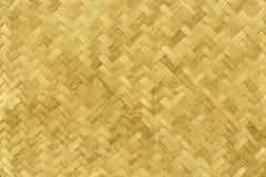Stary bambusowy tkactwo wzór, wyplatająca rattan maty tekstura dla tła Zdjęcie Stock