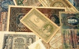 Stary banknotu rocznika tło Zdjęcie Royalty Free