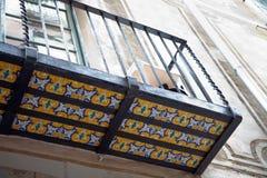 stary Barcelona balkonowy miasto Zdjęcia Stock