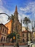 stary Barcelona kościół obraz stock