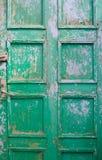 Stary barwiony drzwi Obrazy Stock