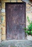 Stary baskijski drzwi Fotografia Royalty Free